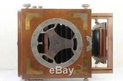 Antique large format camera + SOHNEIDER KREUZNACH XENAR 21cm f/4.5 Lens Japan