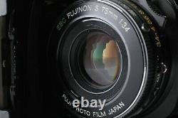 As is Fuji Fujica GS645 Pro Rangefinder Film Camera with 75mm F3.5 Lens