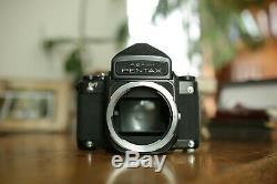 Asahi Pentax 67 6x7 Camera Kit with SMC 90mm 2.8 Lens + Flash + Extras READ