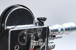 BOLEX H-8 H8 REFLEX 8MM MOVIE FILM CAMERA With LENSES