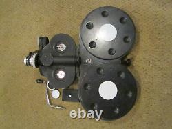 Bell & Howell Eyemo 35mm Movie Camera, Lens, Hand Crank, Wood Mag, Film Ready