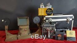 Bolex H16 Film Camera. Angenieux Lens. 12-120 Mm. Viewer Editor. Circa 1970