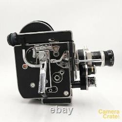 Bolex H8 REX-4 Reflex 8mm Cine Film Camera & 8-36mm f/1.9 Lens Working S8-2924