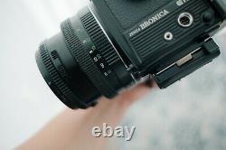 Bronica ETRSi Film Tested, Prism Finder, Speed Grip, 2 Backs, & 75mm Lens