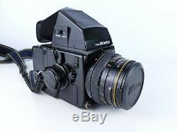 Bronica Sq-ai 6x6 120 Film Medium Format Camera 80mm Lens + Ae Finder Prism