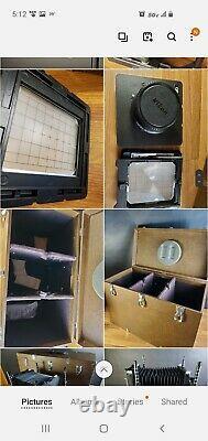CAMBO SC HEAVY DUTY 4X5 VIEW CAMERA w Nikon W 240mm 5.6 lens + hard case VGC