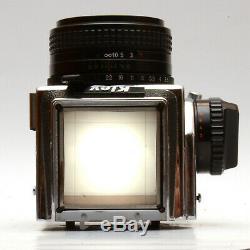 CLA'd Hasselbladski Kiev-88CM 6x6 Medium Format Film Camera with Lens & 2 Backs
