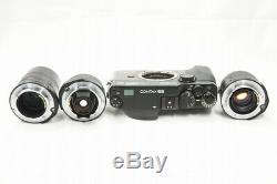 CONTAX G2 Black Film Camera w 28mm, 45mm, 90mm Lens & TLA200 Strobe Set #200506a