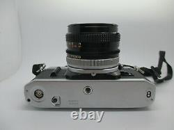 Canon AE-1 AE1 35mm SLR Film Camera with FD 50mm f/1.8 Lens TESTED WORKING