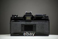 Canon AE-1 Black 35mm Film Camera with Canon 50mm f/1.8 Lens SLR Tested