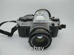 Canon AE-1 Program 35mm SLR Film Camera with 50mm f/1.8 FD Lens GREAT CONDITION
