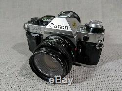 Canon AE 1 Program SLR Film With Canon 50mm 1.8 Lens