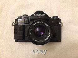 Canon A-1 35mm SLR Film Camera with 50mm 1.8 Lens Kit TESTED WORKING