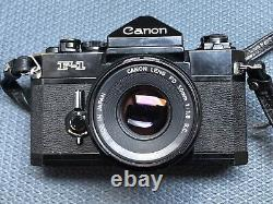 Canon F-1 Film SLR Camera With 50mm f1.8 Lens Light Seals Replaced