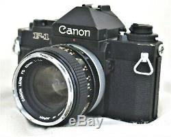 Canon New F-1 35mm SLR Film Camera No. 246900 w FD 50mm f/1.4 Lens
