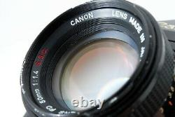 Checked Canon F-1 Late Model Film Camera with FD 50mm F1.4 lens from Japan 562203