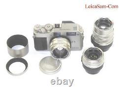 Contax G1 Titanium Camera With Contax 28mm, 45mm, 90mm T G lenses Ex++