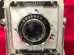 Crown Graphic 4 x 5 with Optar 135mm f4.7 lens