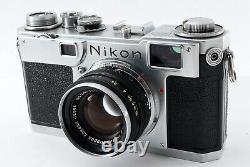 EXC +4 Nikon S2 Late Model Black Dial + Nikkor H. C 50mm f2 Lens Japan 7370
