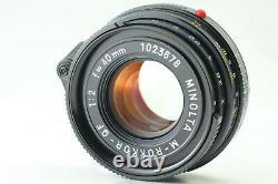 EXC+5 Leitz Minolta CL Rangefinder Camera + M-Rokkor 40mm f/2 Lens from JAPAN