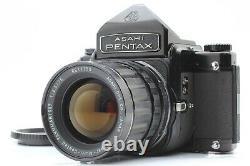 EXC+5 Pentax 6x7 67 Eye Level Finder + SMC Takumar 75mm f4.5 Lens From JAPAN