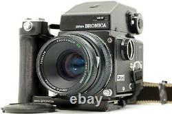 EXC+5 Zenza Bronica ETRS + Zenzanon EII 75mm F2.8 Lens AE-II Finder From JAPAN