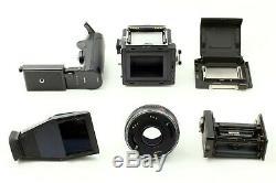EXC+5 Zenza Bronica ETR S with Zenzanon MC 75mm F2.8 Lens + Grip From JAPAN 1094