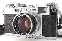 EXC+++++Nikon S2 Rangefinder Camera with Nikkor S. C 5cm F/1.4 50mm Lens Japan