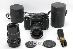 EXC+++++ PENTAX 6x7 67 Mirror up Body with SMC 75mm 200mm Lens from JAPAN 1211