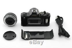 EXC+++Pentax MX Black film camera with smc M 50mm f/1.7 Lens Strap Japan #2221
