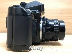 Exc+5 Pentax 67 II AE Finder SMC P 105mm F/2.4 Late model Lens with Strap JAPAN