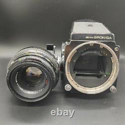 Exc +5 Zenza Bronica ETR C ETRC with Zenzanon MC 75mm f/2.8 Lens from JAPAN