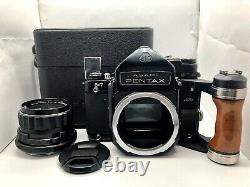 Exc+5 with CASE Pentax 6x7 67 TTL Mirror up + SMC T 105mm f2.4 Lens from JAPAN