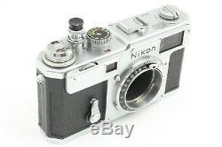 Exc++ Nikon S3 35mm Rangefinder Film Camera + Nikkor-H 5cm f/2 Lens From Japan