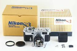 Exc+ in Box Nikon S3 Year 2000 Limited Edition NIKKOR-S 50mm f/1.4 Lens 5264