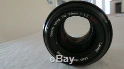 F1.2 55mm Fd Ssc Canon Film Camera Lens As New Prime Manual Focus 2 X Cap Japan
