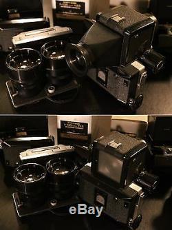 Film Tested Medium format camera Koni-Omegaflex M, lenses, viewfinders, film backs