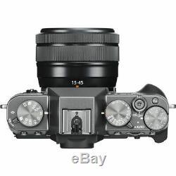 Fuji film X-T30 Digital Camera with XC 15-45mm Lens in Charcoal Silver (UK) BNIB