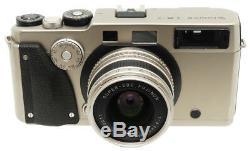 Fujifilm TX-1 Rangefinder Film Camera + Super-EBC Fujinon 45mm F4 Lens. Hood