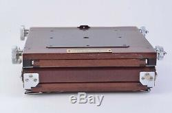 GORGEOUS IKEDA ANBA WOOD VIEW 4x5 FIELD CAMERA withNIKKOR 135mm F5.6 LENS, NICE