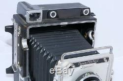 Graflex 4x5 Crown Graphic Special camera. Xenar 135/4.7 lens. (2) Film Holders