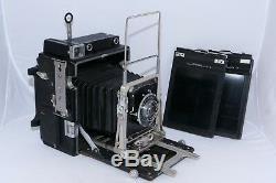 Graflex 4x5 Speed Graphic field camera. Optar 135mm /4.7 lens (2)Film Holders