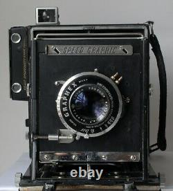 Graflex Anniversary Speed Graphic 4x5 Camera with Optar 135mm f4.7 Lens Work Well