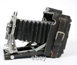 Graflex Crown Graphic 4X5 Camera with 135mm Lens + Holders + FRESH FILM
