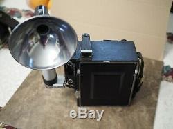 Graflex Speed Graphic 4x5 Film Camera Body with 152mm f4.5 Lens