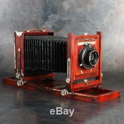 Gundlach Korona 5x7 Camera w B&L Protar Series VII 18 f12.5 Lens + 4x5 Back