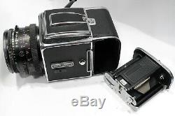 Hasselblad 500C/M Camera & CF 80mm 2.8 Carl Zeiss Planar Lens & A12 back Finder
