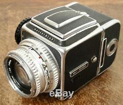 Hasselblad 500C Medium Format Film Camera + 80mm f/2.8 Lens + WLF + RFH