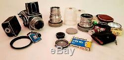 Hasselblad 500 C set planar 2.8/80 sonnar 4/150 distagon 5.6/60 rear lens