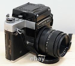 KIEV-6C Camera VEGA-12B 2.8/90 2,8 Lens TTL Prism Waist Case Macro Ring AS IS